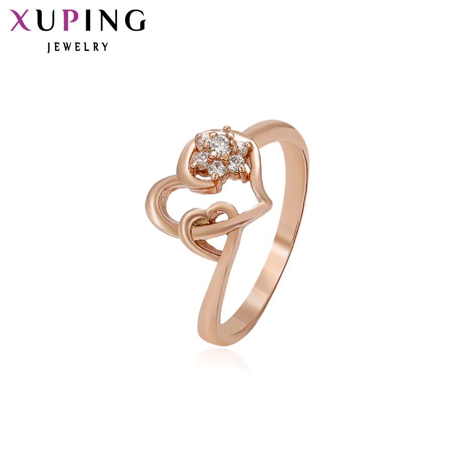 Xuping Fashion Ring Special Design Rings for Women High Quality Gold Color Plated Synthetic CZ Jewelry Christmas Gift 13131