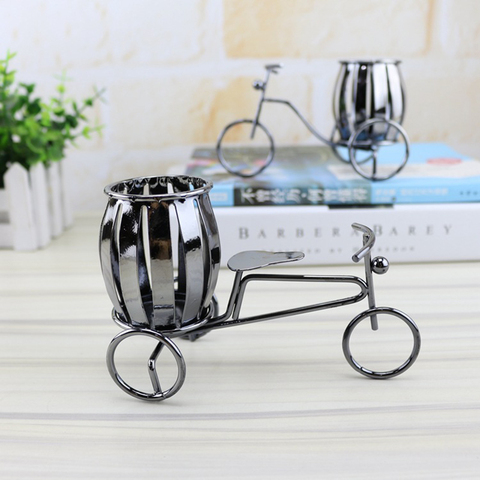 Home Decoration Accessories Wrought Iron Bicycle Pen Holder Creative Desktop Decoration Boutique Gift Decoration Small Gift Islamabad