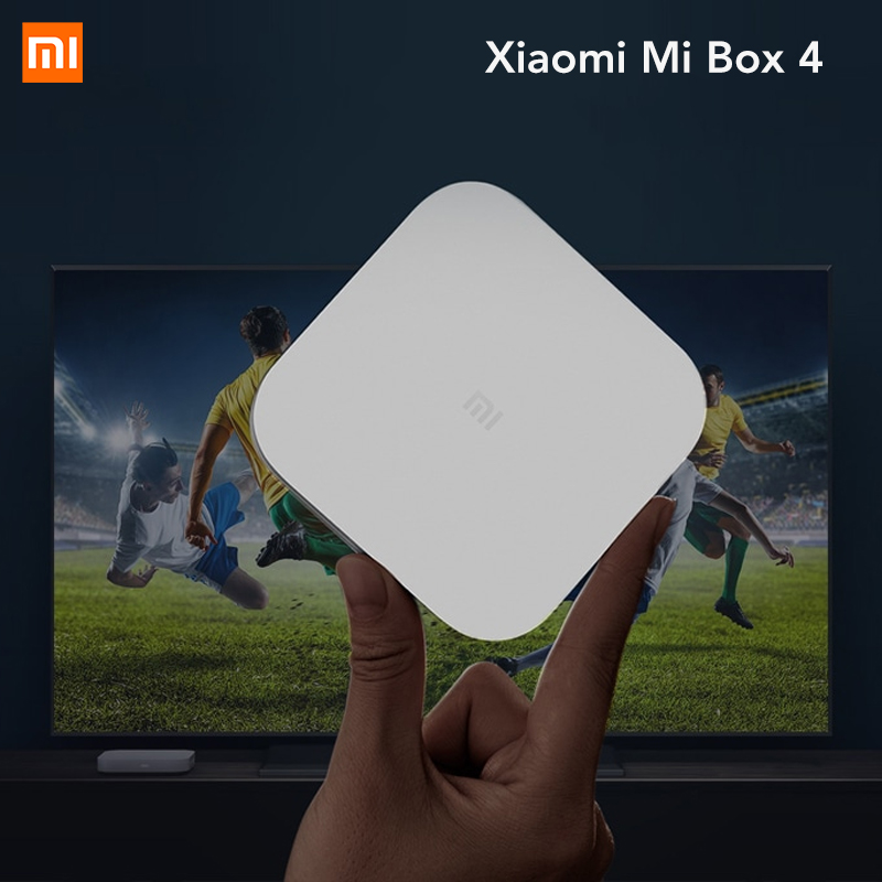 Chinese Version Xiaomi Mi Box 4 Smart Android TV Set-Top Box Bluetooth 4.1 2GB RAM + 8GB ROM 2.4G Wi-Fi 4K HDR beelink a9 quad core android 4 2 google tv player w 2gb ram 8gb rom bluetooth 5g wi fi black
