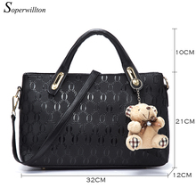 Top Handle Handbags Set PU Leather