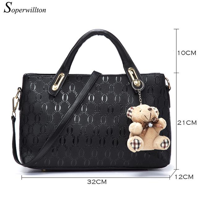 Women Bag Top-Handle Bags Female Famous Brand 2017 Women Messenger Bags Handbag Set PU Leather Composite Bag set of 4