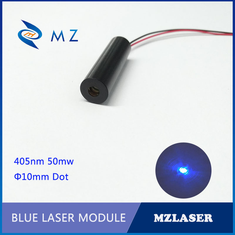 Blue Dot 10mm 405nm UV 50mw ACC Drive Laser Module Laser Engraving UV Curing Laser