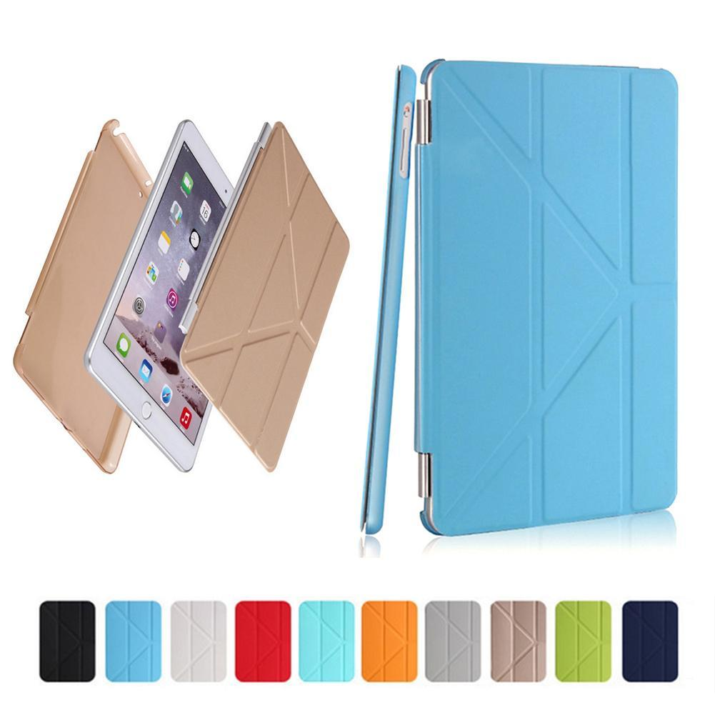 2 in 1 Smart Case Stand PU Leather Cover 4 Shapes + Soft TPU Silicone Bottom For 9.7 Inch Ipad 2/3/4 For Ipad 3/4 For Ipad 9.7 surehin nice tpu silicone soft edge cover for apple ipad air 2 case leather sleeve transparent kids thin smart cover case skin