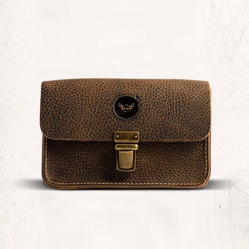 Vintage Crazy Horse Leather Handväska Ny Apple 6PLUS mobiltelefon - Bälten väskor - Foto 3