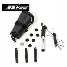SAHOO Multifunction Cycling Repair Tool Set Kit with Saddle Bag Black Ciclismo Bike Mini Pump Bicycle