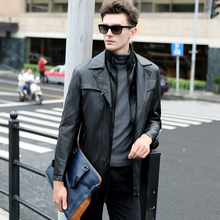 2016 New Arrival Leather Jacket Fashion Leather Suit Slim Leather Jacket Men Casual Outerwear Leather Coat