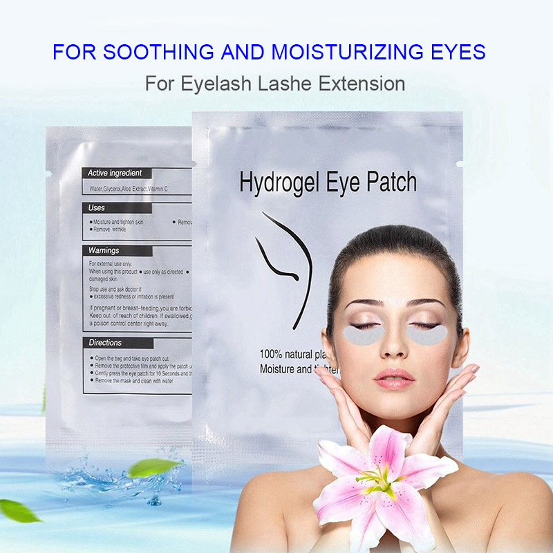 2018 50/100/200 Pairs Eye Pads Lint Free Eyelash Gel Mask Eyepads Lashes Extension Patches 50 pairs new gel eye pads under eye patches for eyelash extension pads lint free patch for eye lashes make up eye tips sticker