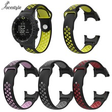 New Watchband Accessories Replacement Silicone Bracelet Strap Watch Band for Suunto Core Smart Watch With Screws