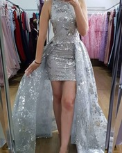 Sexy Party Gala Dress Plus Size African Two Piece Short Prom Evening Dresses Gown 2019