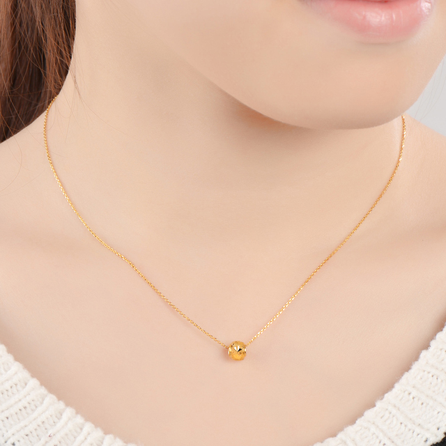 JAZB 24K Pure Gold charm  Real AU 999 Solid Gold beads pendant Beautiful Bead Upscale Trendy Classic  Jewelry Hot Sell New 2020 4
