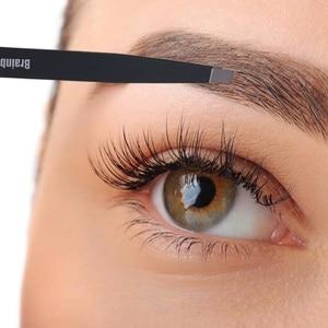 Image 2 - Brainbow apertado inclinação sobrancelha pinça anti estático cílios extensão pinzette pálpebra adesivo aplicação olhos ferramentas de remoção do cabelo