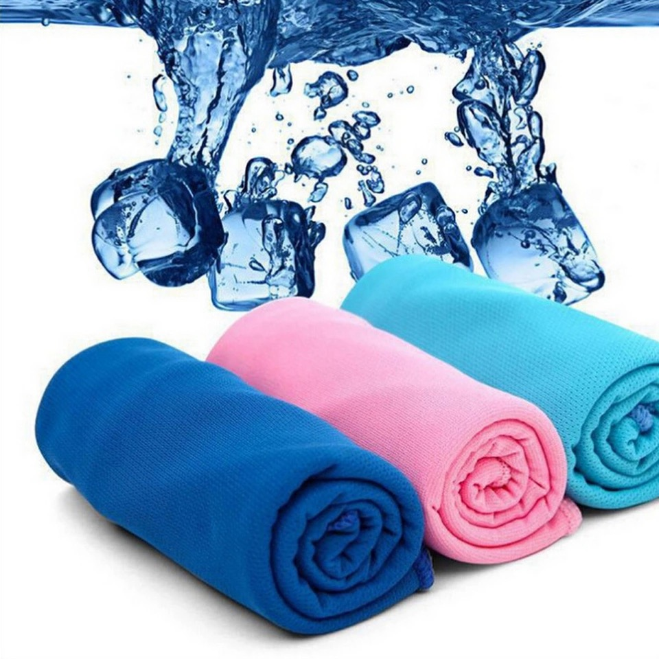 New Fashion 9 Colors Ice Handduk Utility Enduring Instant Cooling Handduk Heat Relief Återanvändbar Chill Cool Handduk