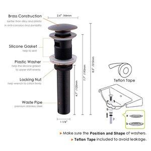 Image 2 - Pirinç Pop Up lavabo tahliye tapası taşma, itme ve conta takımı için banyo bataryası gemi Vanity havzası