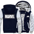 USA size Men Women Marvel  Zipper Jacket Sweatshirts Thicken Hoodie Coat Clothing Casual