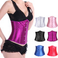New Women Plus Size Corsets And Bustiers Steel Boned Underbust Corset Waist Cincher Chest Binder Waist Bright Girdle