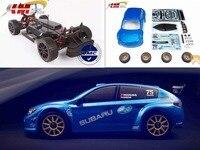 KM 1/7 RC 스바루 랠리 WRC 원격 제어 시뮬레이션 랠리 자동차 두 세트 타이어 20kg 금속 svrvo 성 120A esc 1515 모터 MT-305
