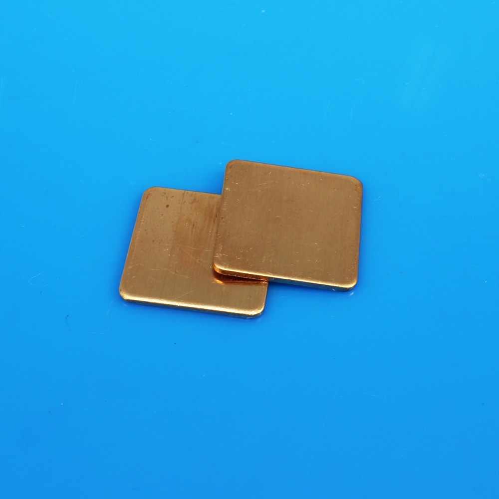 JCD جديد قسط 1 قطعة 20 مللي متر x 20 مللي متر DIY النحاس شيم المبرد وسادة حرارية لأجهزة الكمبيوتر المحمول وحدة معالجة الرسومات وحدة المعالجة المركزية VGA رقاقة RAM بالوعة الحرارة النحاس