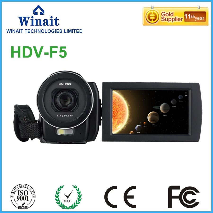 Бесплатная доставка 24MP 1080P Цифровая видеокамера HDV F5 3,0 сенсорный экран дистанционное управление перезаряжаемая литиевая батарея камера
