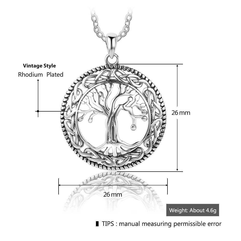 Collana di modo di Albero della Vita Pendenti con gemme e perle e Collana Per Le Donne 26 millimetri Pendenti con gemme e perle Squisita Dei Monili di Regalo Per Le Donne Mamma (NE101908)