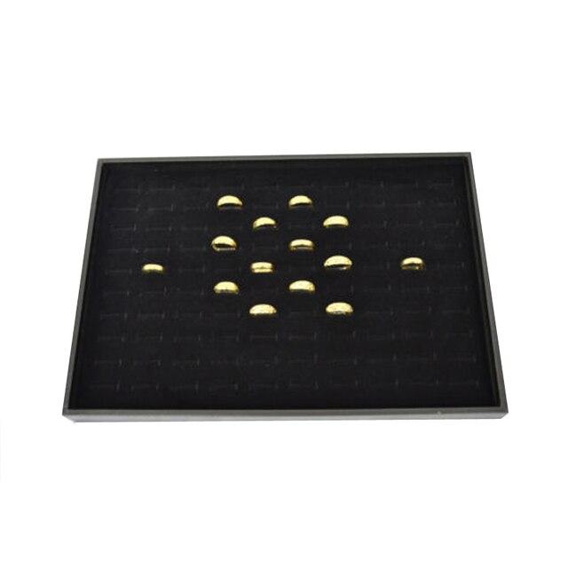 100 Slot Jewelry Organizer Ring Box Black Velvet Ring Jewelry