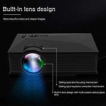 Mini Projecteur Lcd | Original UNIC UC68 UC68H Projecteur à LED Portable 1800 Lumens 80 110 ANSI HD 1080p Projecteur Vidéo Full HD Projecteur Pour Home Cinema
