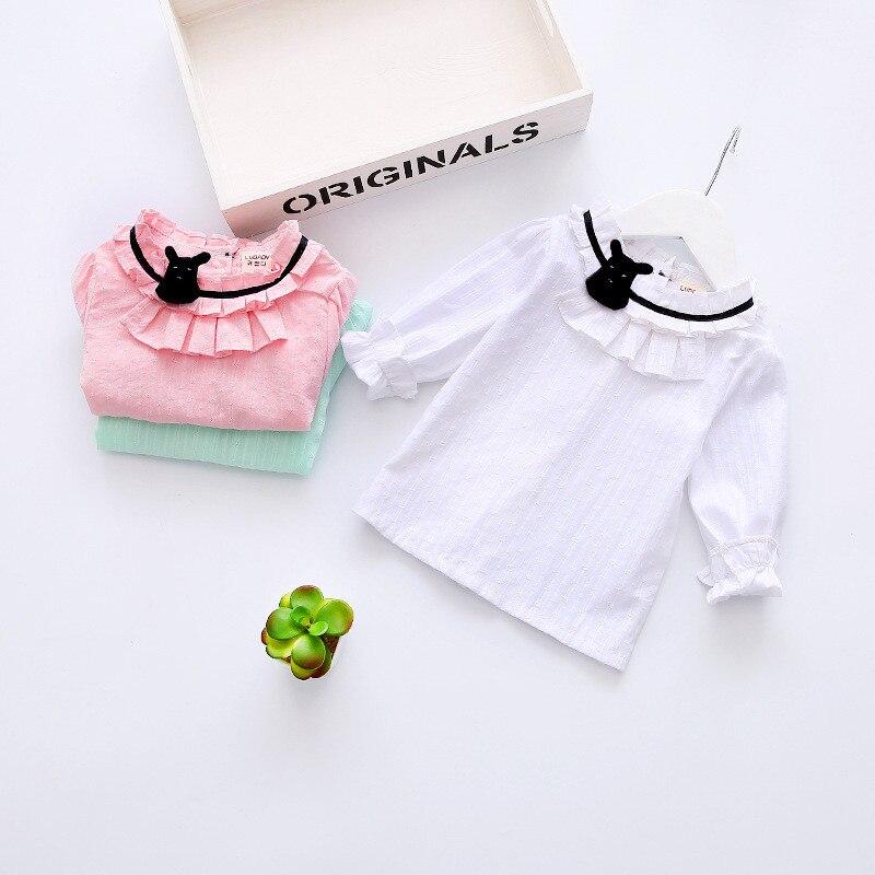 Frühling Baby Mädchen Shirts Baumwolle Süße Stil Kinder Kleidung Hoher Qualität Baby Mädchen Blusen Volle Hülse Kinder Kleidung Ske20