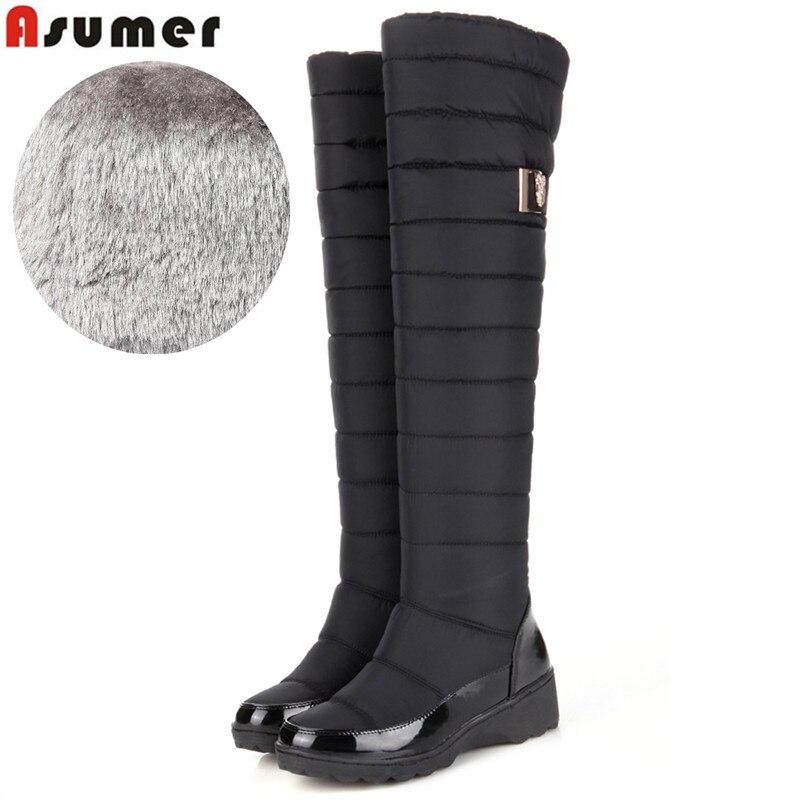 comprar online zapatos elegantes de calidad superior ASUMER de talla grande nuevas botas de nieve de invierno para ...