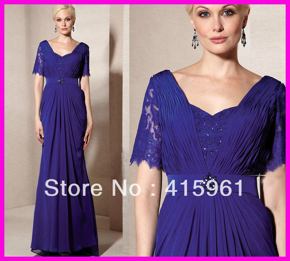 farsali Elegant Purple Short Sleeve Beaded Lace Mother of the Bride Dresses Floor Length 2019 vestido de madrinha in Mother of the Bride Dresses from Weddings Events