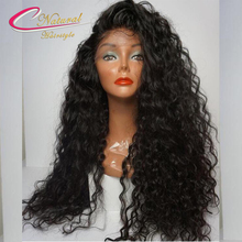 Thick Curly Human Hair Density 180% Lace Front Wigs Raw Indian Remy Hair Glueless Full Lace Human Hair Wigs For Black Women