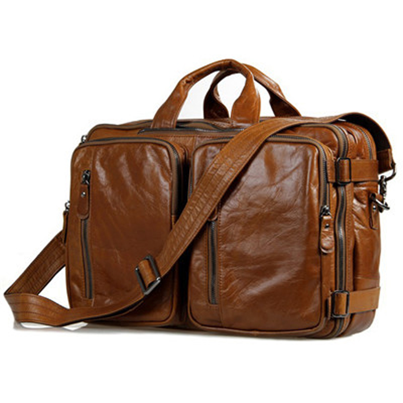 fashion genuine leather menu0027s travel bags luggage travel bag leather duffle bag men - Mens Leather Duffle Bag