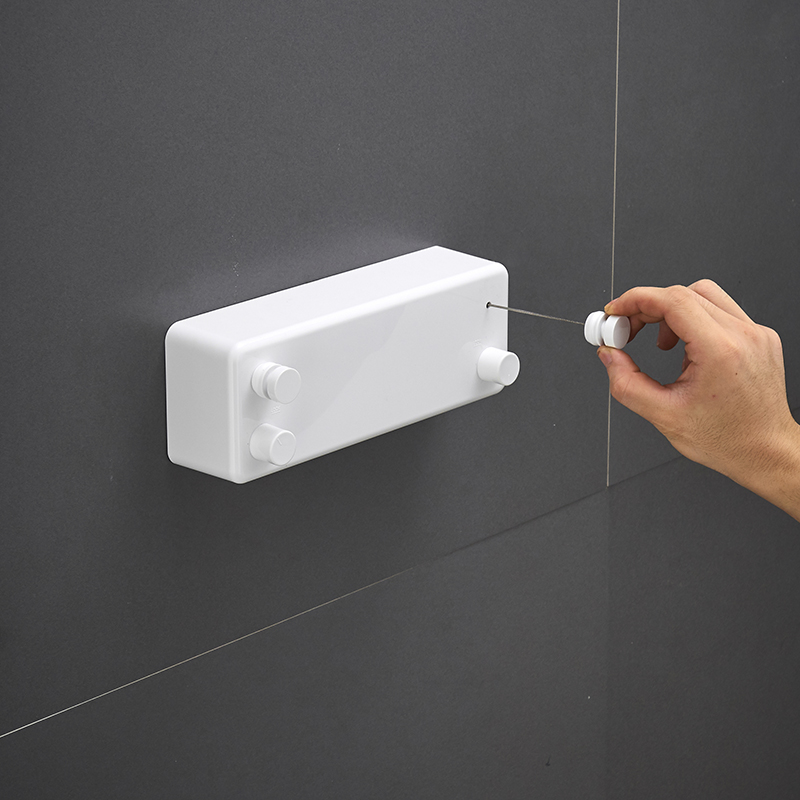 Bathroom Shelves Bathroom Hardware Fast Deliver Invisible Telescopic Clothesline Indoor Non Perforated Shrink Clothes Hanger Bathroom Cooling Clothes Rope Balcony Household App Spare No Cost At Any Cost