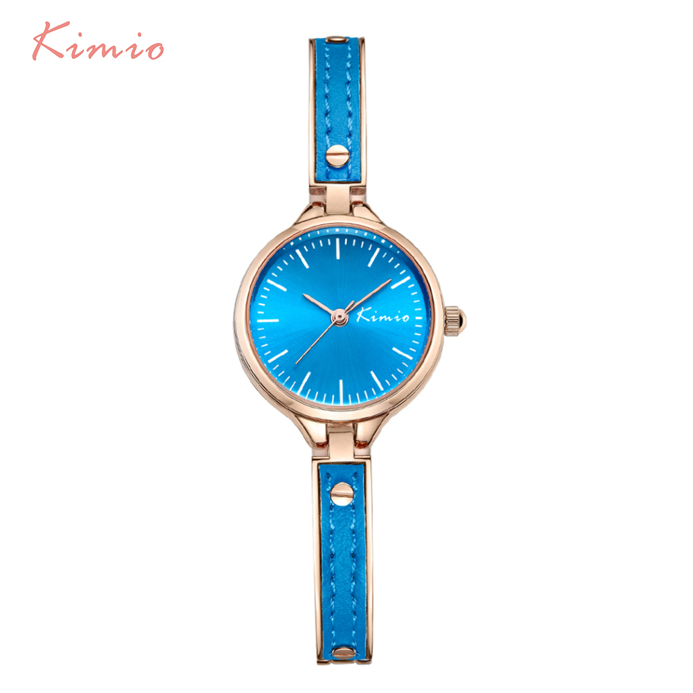mingtuo new fashion dress watch green and red color leather bracelet women watch round minimalist ladies quartzwatch 30 KIMIO Color Casual Small Ladies Quartz Watch Woman Alloy With Leather Bracelet Strap Watches Women Fashion Watch 2017 Dress Girl