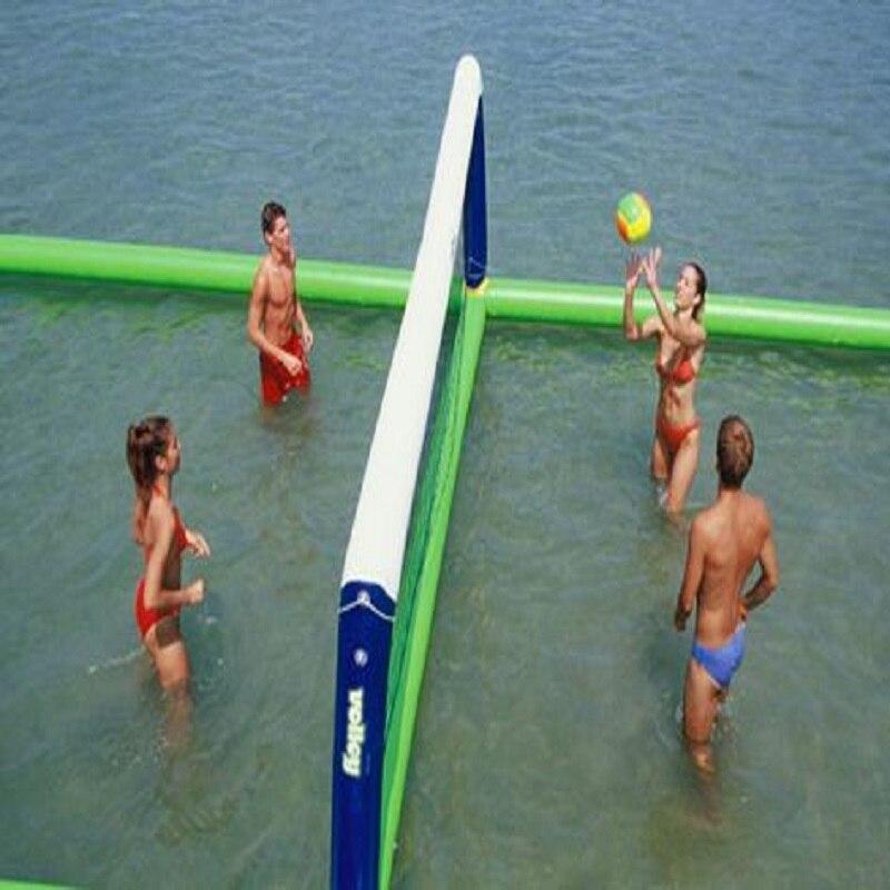 Terrain de volley-ball gonflable terrain de volley-ball aquatique jouets objets flottants sur l'eau jeu d'été jouet gonflable
