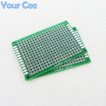 5 шт. 4X6 см DIY Прототип бумага PCB универсальная печатная плата Двусторонняя плата 1,6 мм 2,54 мм Стекловолокно
