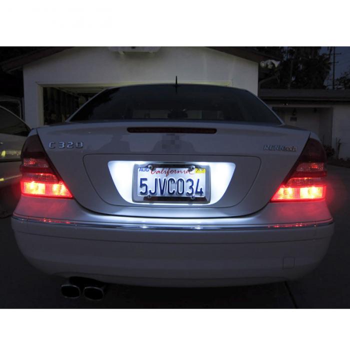 2pcs White Xenon Car COB LED License Plate Light 6418 C5W 4W LED Bulbs 12V 36mm