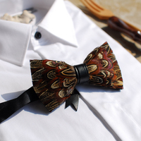 Free Shipping New fashion casual male Men's woman female wing feather bow tie marriage gift PARTY party in Western headwear