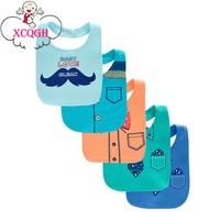 XCQGH 5Pcs Lot Baby Bibs Bandana Bib Baberos Cotton Towel Infant Toddler Baby Boy Girl Bibs