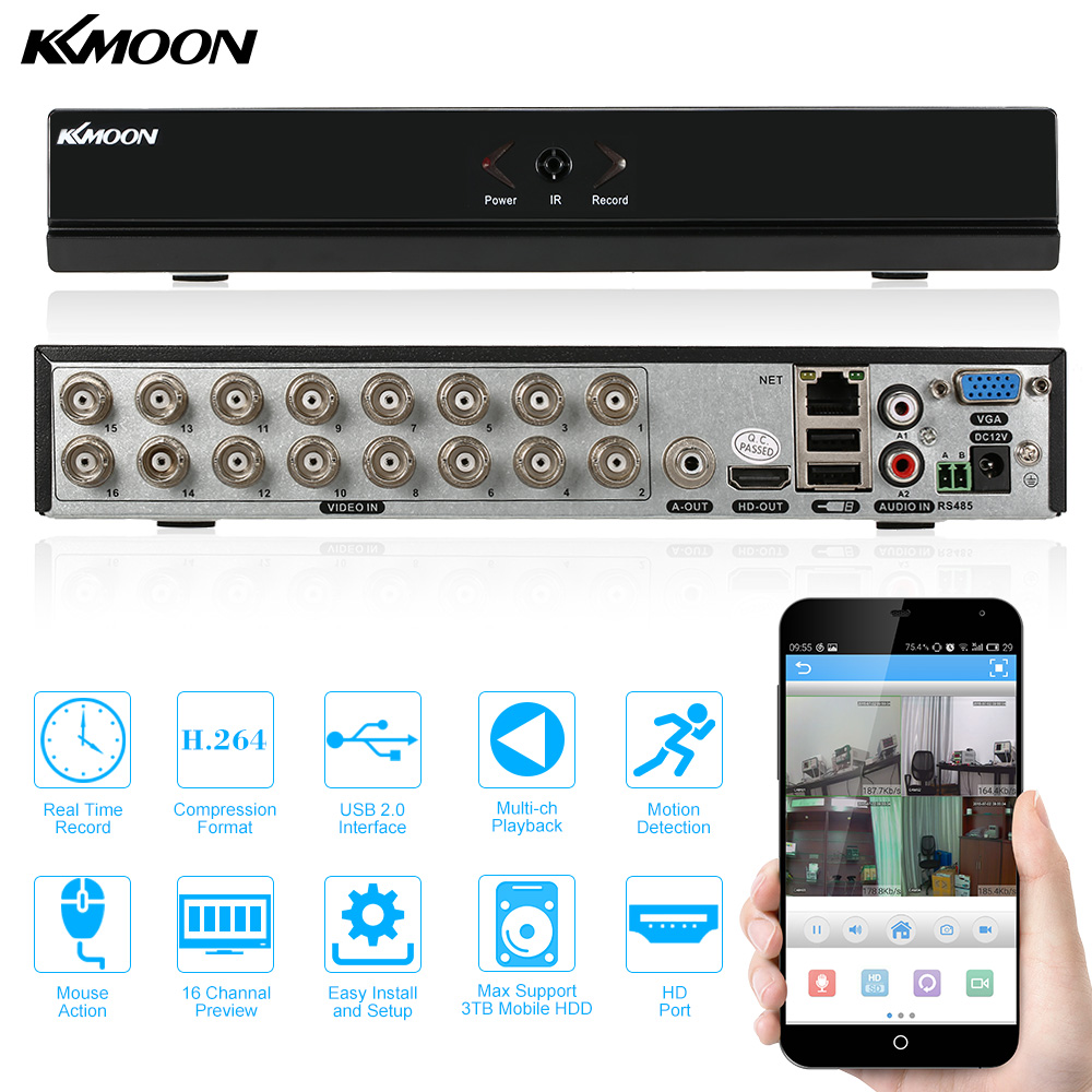 KKmoon 16 Channel 960H D1 CCTV DVR Recorder H 264 HDMI Home Security System Real Time