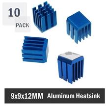 10PCS Aluminum Mini IC Chipset Cooling Cooler Heat Sink Heatsinks 9 x 12mm