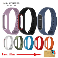 Mijobs Xiaomi Mi Band 2 Straps For Mi Band 2 Silicone Strap Bracelet Wristband Strap Replacement Colorful Silicone Accessories