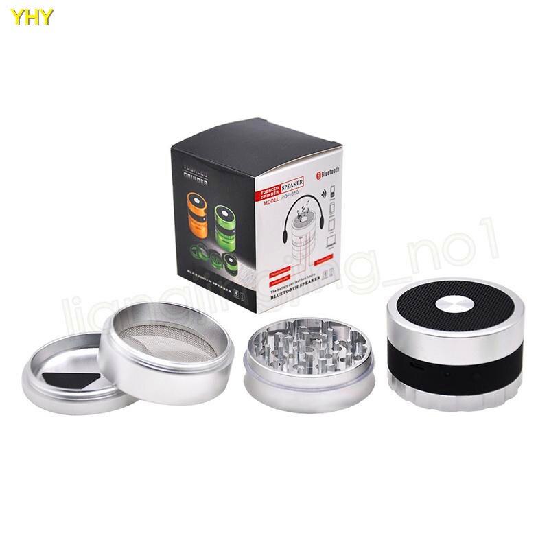 Bluetooth Grinders 62mm metal herb grinder for tobacco grinder speaker 2 in 1 creative smoking grinders Accessories GGA99501