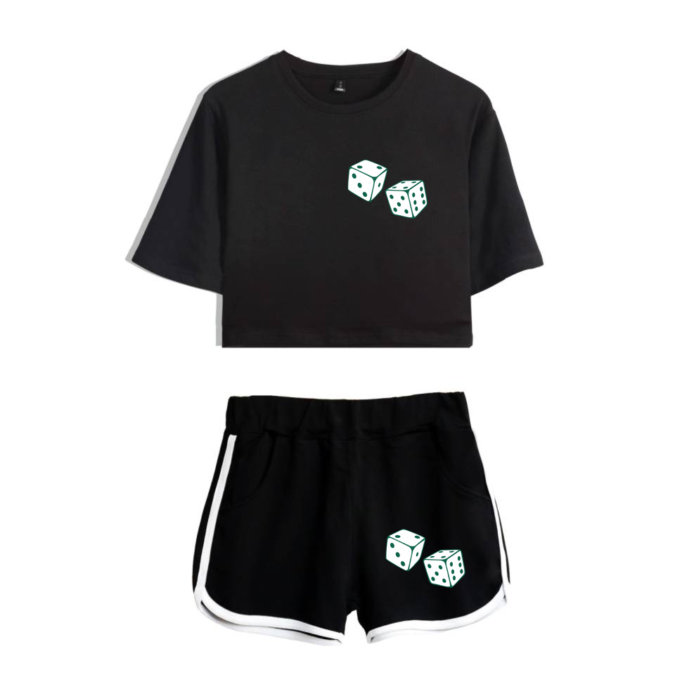 Zielsetzung 2018 Mac Miller Trainingsanzug Frauen Wo Stück Set Sommer Sexy Baumwolle T Shirt 2 Stück Set Frauen Shorts Crop Tops + Shorts Hosen Weniger Teuer