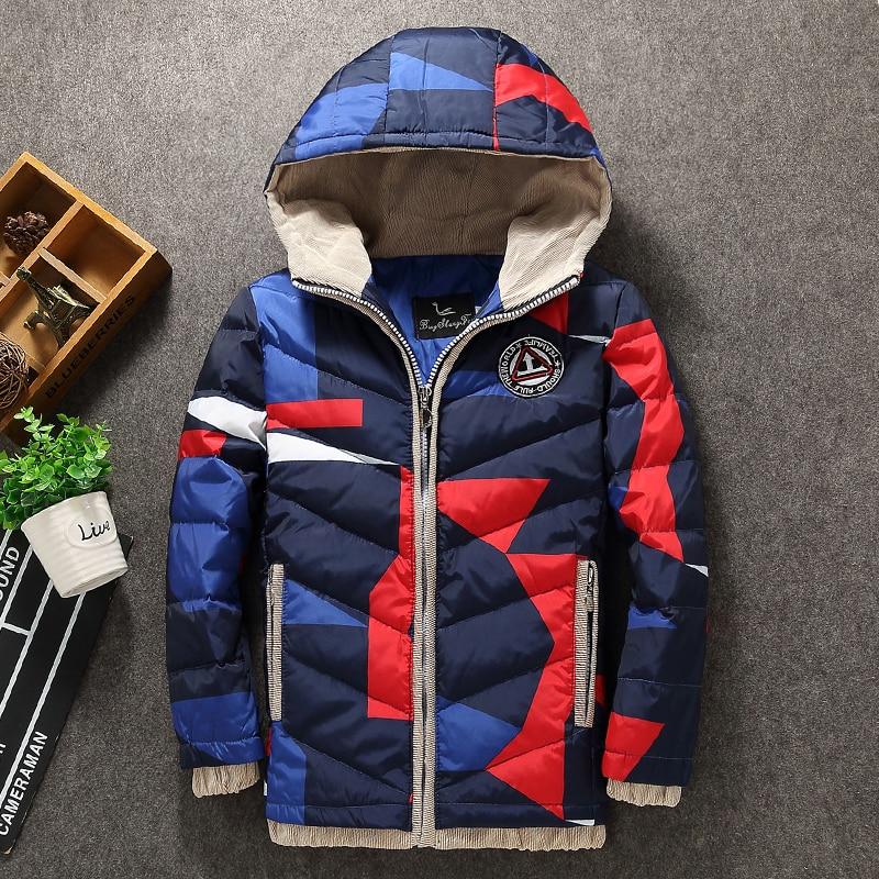 New Children's Outerwear Boy Winter Warm Hooded Coat Cotton-Padded Clothes boy 90%white duck  Down Parkas kid jackets 5-12 years держатели для туалетной бумаги blonder home держатель туалетной бумаги