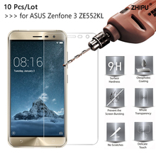 цена на 10 Pcs/Lot 2.5D 0.26mm 9H Tempered Glass For ASUS Zenfone 3 ZE552KL 5.5 inch Screen protective film For ASUS Zenfone 3 Glass