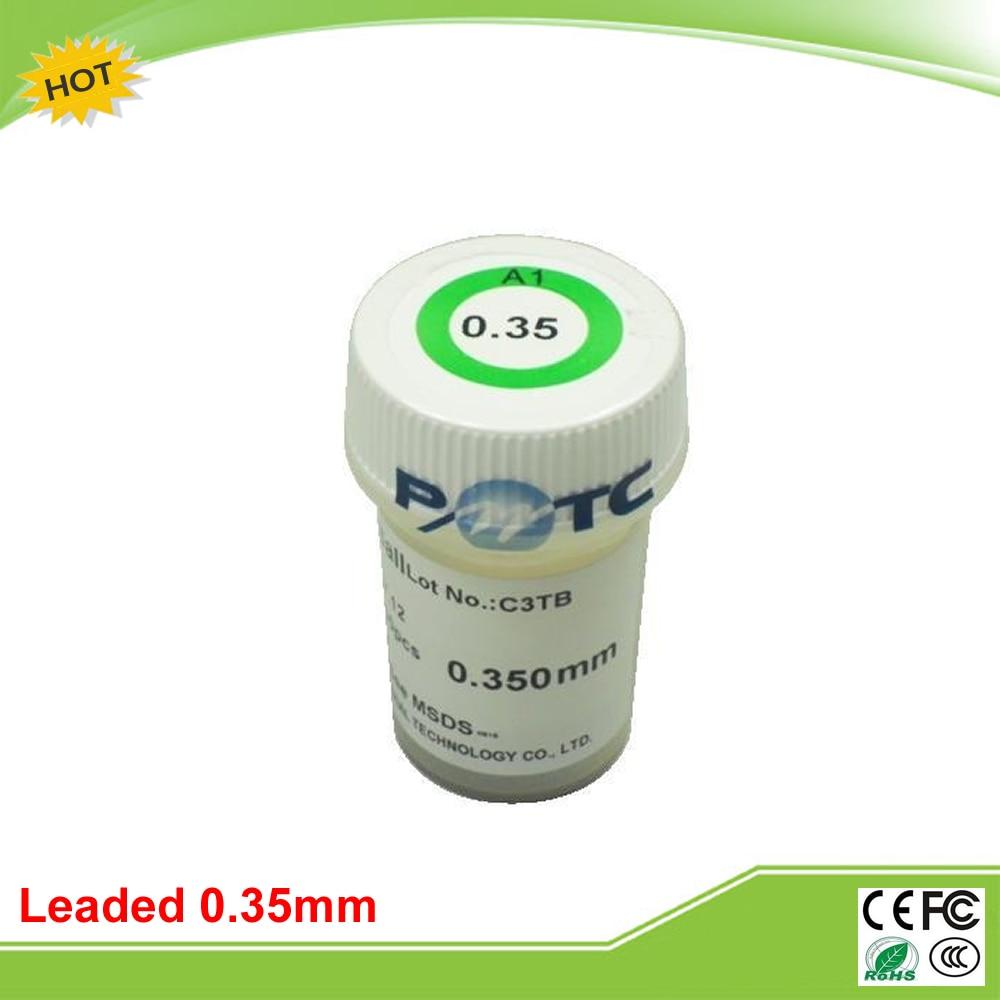 PMTC 250k 0.35 mm leaded solder balls for bga rework reballing solder ball pmtc 250k 0 76mm lead free leaed free solder balls for bga chip reballing