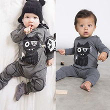 Newborn Baby Boy Girls Long Sleeve Romper Babysuit Playsuit Outfits Clothing 2016 Cute Baby Clothing