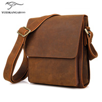 New Authentic Matte Crazy Horse Men Single Shoulder Bag And The Wind Vertical Business Bag 7055