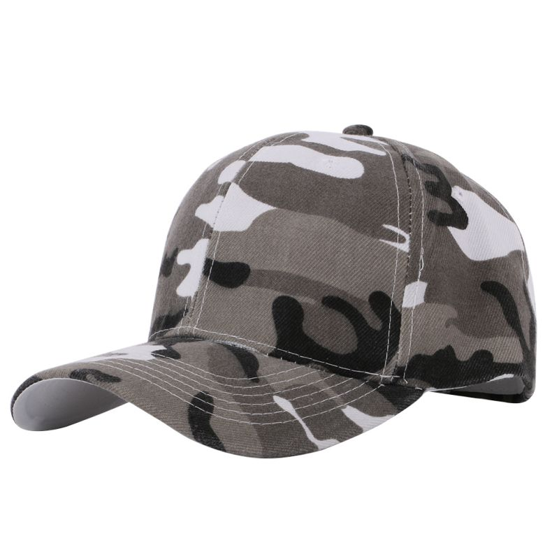 EFINNY new Camouflage Half Mesh Army Hat Baseball Cap Desert Jungle Snap Camo Canvas Cap Men Women Hats