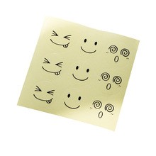 90pcs/pack Smiley Transparent Self-adhesive Baking Packaging Sael Label Sticker DIY Product Gift Decorative Scrapbooking