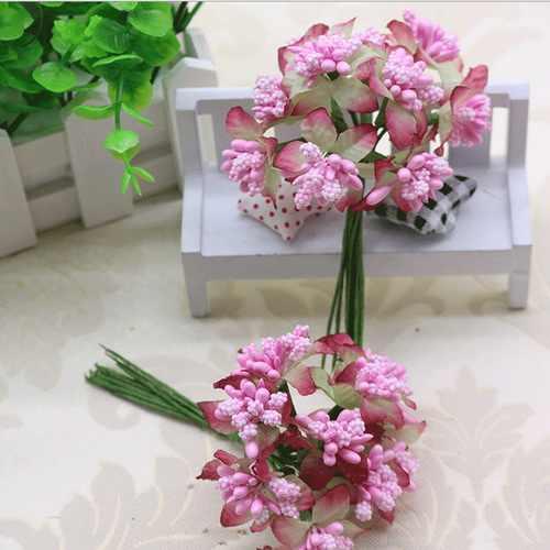 CCINEE แสงสีชมพูดอกไม้ Rose Stamen 1 มม./3 มม./5 มม. สำหรับเค้กตกแต่ง/งานฝีมือ /ไนลอนดอกไม้ DIY ของขวัญอุปกรณ์เสริม